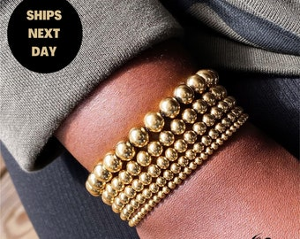 Gold Filled Beaded Bracelet   3mm 4mm 5mm 6mm 8mm 14k Gold Filled Bead Bracelet   Gold Bead Bracelet   Gold Ball Bracelet   The AB Bracelet