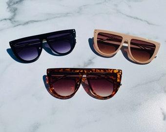 Retro Oversized Frame Lens Sunglasses   Square Sunglasses   Retro Sunglasses   JADA Sunnies