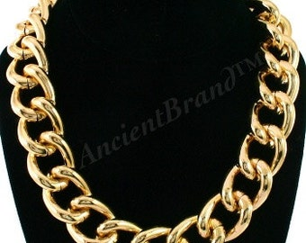 Vintage Chunky Gold or Silver Chain Necklace   Statement Necklace   Chain Link Necklace   Cuban Link Necklace   Curb Chain Necklace   Kasi