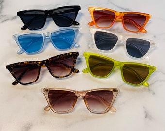 Retro Triangle Cat Eye Sunglasses   Cateye Sunglasses   Retro Sunglasses   Pointed Cateye Sunglasses   Kaede