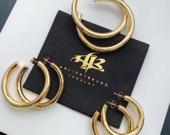 Thick Shiny 18k Gold Filled Open Hoops   45mm Gold Filled Hoops   50mm Gold Filled Hoops    60mm Gold Open Hoops   Kesha Hoops