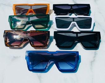 Retro Oversized Frame Lens Sunglasses   Square Sunglasses   Retro Sunglasses   JT