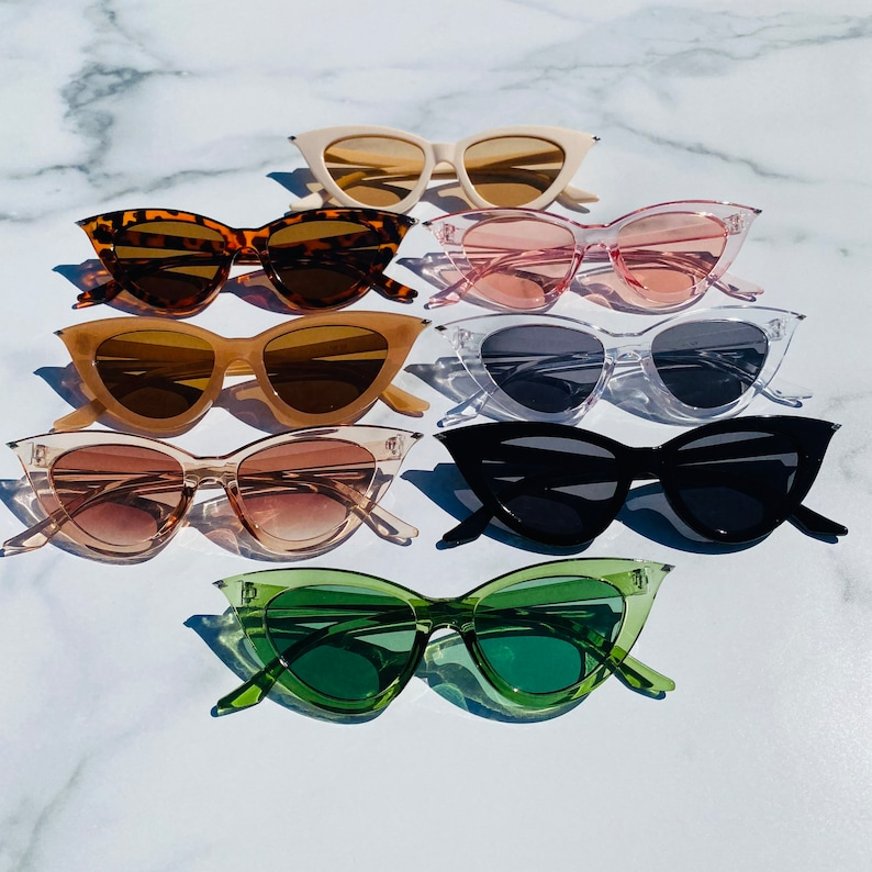 Retro Triangle Cat Eye Sunglasses | Cateye Sunglasses | Retro Sunglasses | Pointed Cateye Sunglasses | Lola