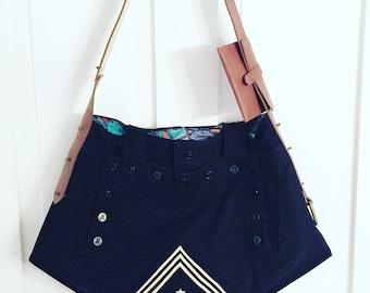 Messenger Bag, Messenger Bag For Women, Vintage Messenger Bag, Upcycled Recycled Repurposed, Crossbody Bag, Women Handbag,