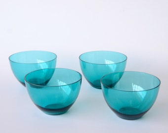 Turquoise Art Glass Bowls