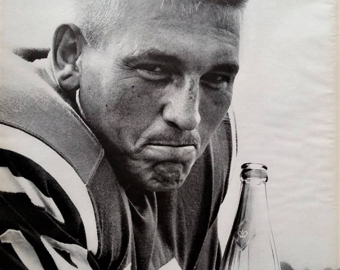 Johnny Unitas Indy Colts Royal Crown Cola Baltimore Colts QB Confident Super Bowl Winner NFL Winners.  13x10  Ready for Framing.