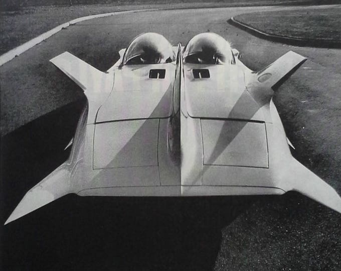 GM Firebird III Experimental car Batman & Robin Bubble Top Future Cars 1964 BW photo Sci-Fi Where Are They ????  13 x 10. Ready to Frame