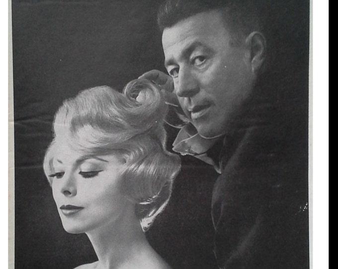 Michel Kazan Hair 60's pioneer Stylist .  New York & Paris coiffure specialist.   Bouffant Icon.  Jacqueline Kennedy's Hairstylist.
