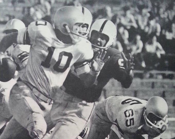 Bama' over GA 1960!  Alabama v Georga. Fran Tarkenton QB 21-6 'Bama Win.  History Repeats!  2 pps Action pics Vikings College Football Fans
