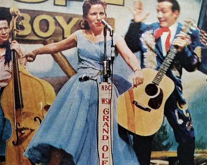Grand Ole Opry 1956 Country Stars Portrait June Carter Ray Price Color Photos One of Kind 5 pps Faron Young Stage Clowns 13x10 Ready Frame