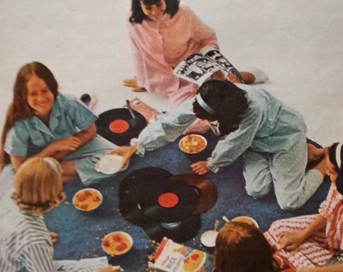 Slumber Party.  Pajama party...girls party.  Listening to Records Eating Cereal.  Like yesterday!  Ready for Framing.