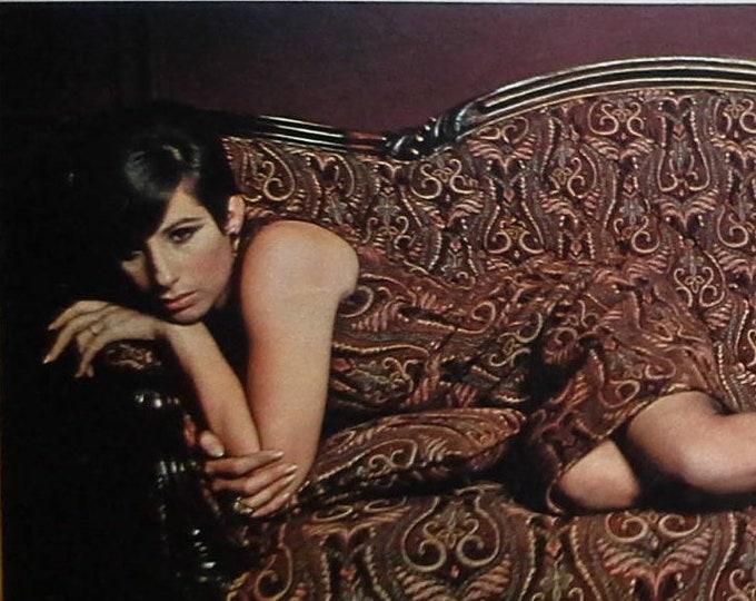 Barbra Streisand Funny Girl and Gifted Singer Songwriter 1966 Model.  Comedienne.  Celebrity.  Feminist  3 pps 13 x 10.  Ready for Framing.