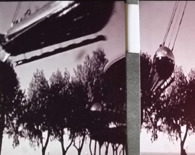 """Euclid Beach Park 50s """"Rocket Ships"""" Photo Reprints Set of 3 photos from 1950s Cleveland Amusement Park Erie 3x4"""