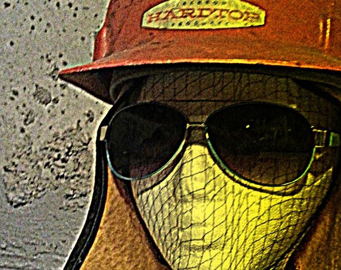 "Costume Hat Orange 'Vic' Hardhat Costume Wear  Ultra Urban Chic.  ORANGE ""Vic"" Jackson Products Adjustable Size. Solid Wearable One of Kind"