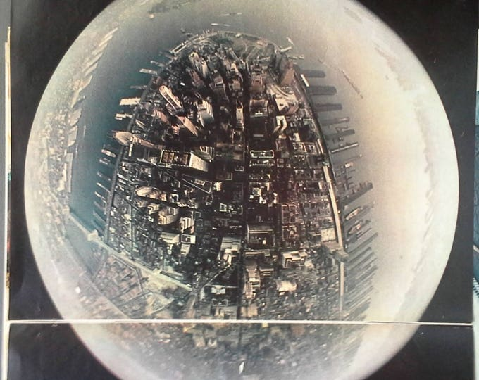 NYC New York City Bubble Topography 1964 World's Fair Paul Fusco Photo 2 pages Unique View Poster The Apple Skyline Rare 13x11 Ready Frame
