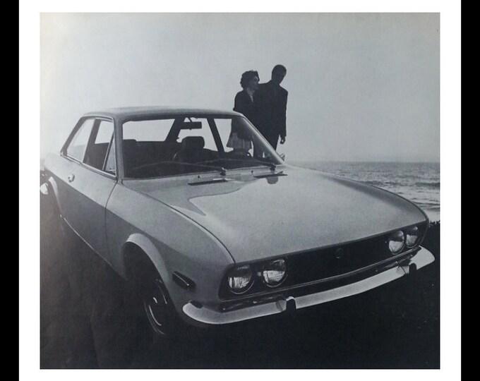 69 Fiat 124 B&W Photo Magazine Ad.   13 x 10 Ready for Framing.