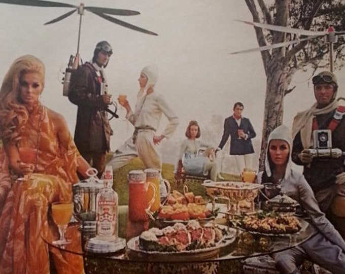 Mad Max -late 60s. Decadence Selfie-Helicopters Steampunk and Vodka with your steak and donuts.  Yeesh.  Ready for Framing.