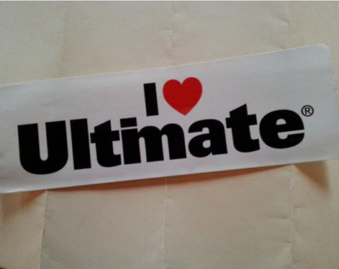 I Love ULTIMATE! bumper sticker NOS disc golf FRISBEE #ultimate