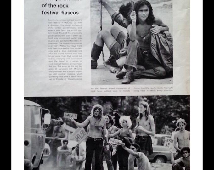 Celebration of Live Rock Festival McRea LA 1971 Failed mini-Woodstock Hippies. Would be concert in Louisiana 1971.  Rock History.