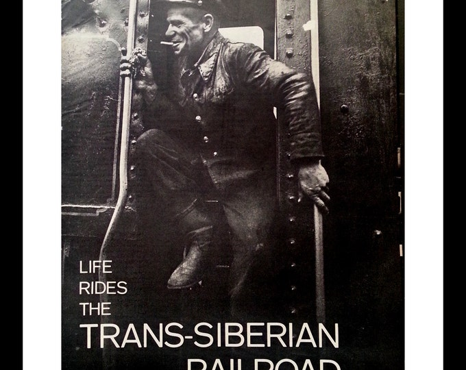 Trans-Siberian Railroad Worker BW Photo.  Russian Train Story.  Classic Picture.  Hard Life Happy Life. Ready for Framing.