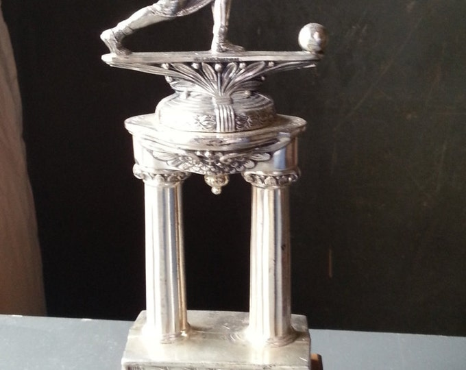 """Post Modern Woman's Bowling Trophy.  Defined features.  Unusual and VERY cool.  12""""."""