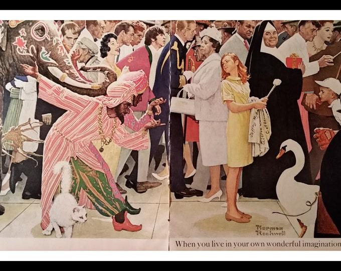 James Bond U.N.C.L.E. Movie Music & Celebrites Norman Rockwell Illus.  Ringo, Man U.N.C.L.E. Leonard Bernstein British Royalty Selfie. 2 pps