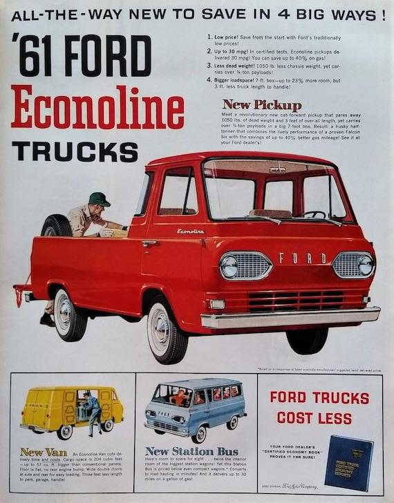 Classic 61 Ford Van Truck Econoline Teardrop Headlights Etsy