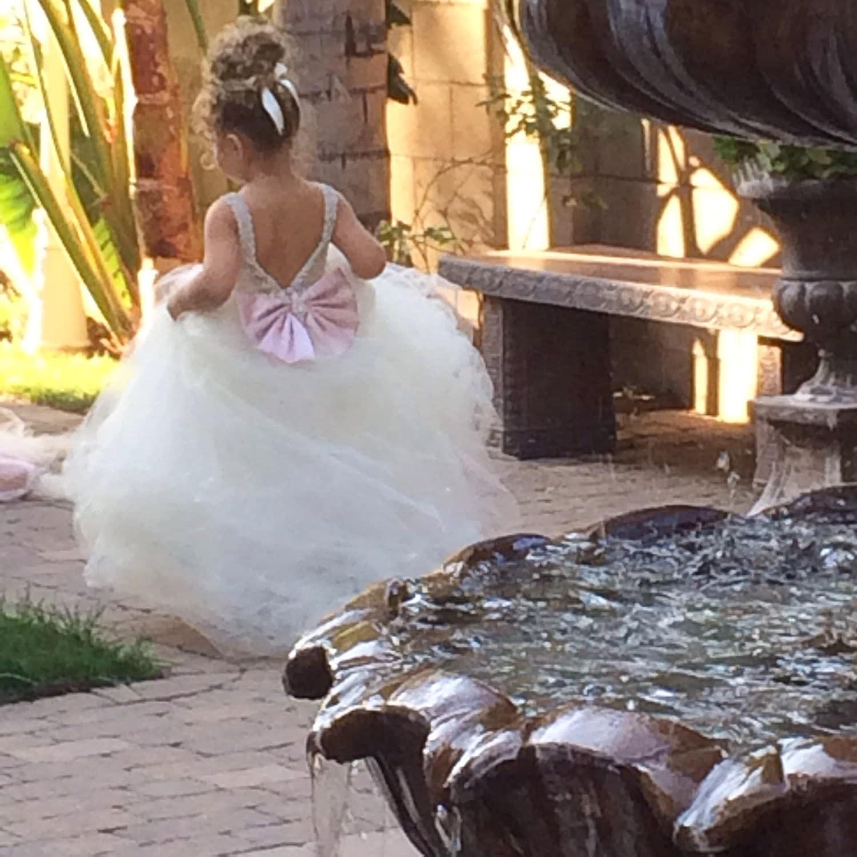 033d3940212 Flower Girl Dress Lace Dress Girls Lace Dress Big Bow