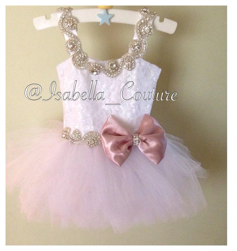 74e14b1e212 Flower Girl Dress Lace Dress Girls Lace Dress Big Bow