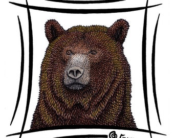Grizzly Bear / Ursus arctos - HQ Giclee Art Print