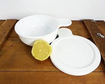 Vintage Corning Ware USA Pyrex Lid Grab It Serving Bowl