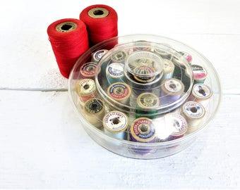 Vintage 24 Wooden Thread Spools