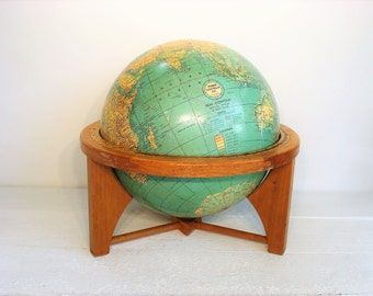 Vintage Weber Costello Co. Chicago Heights Semi Contour 12 Inch Globe