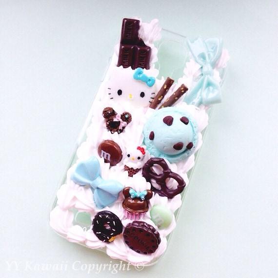Kawaii iPhone 5S Decoden Phone Case Sweet Mint Chip Chocolate