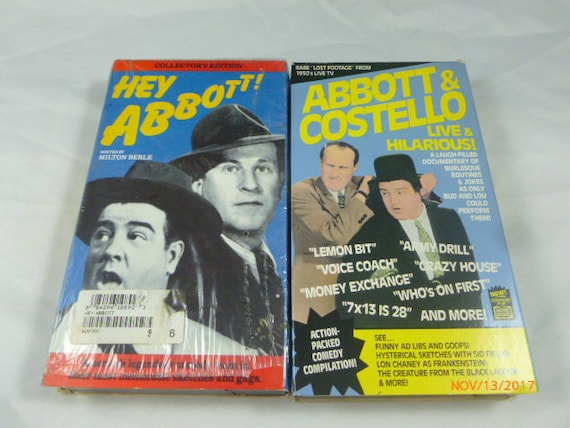 Abbott Costello VHS Lot Of 2 Hey And Live Hilarious