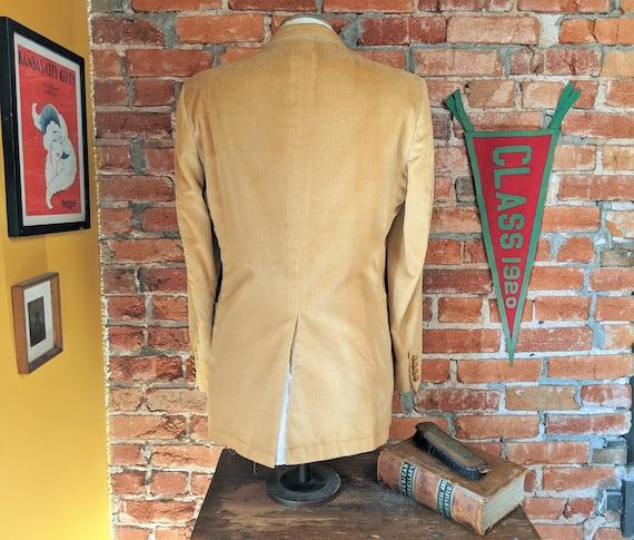 1970s Corduroy Sport Coat Vintage Men's Light Bro… - image 8