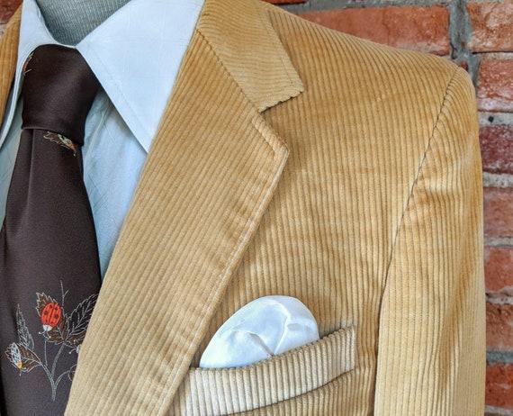 1970s Corduroy Sport Coat Vintage Men's Light Bro… - image 4