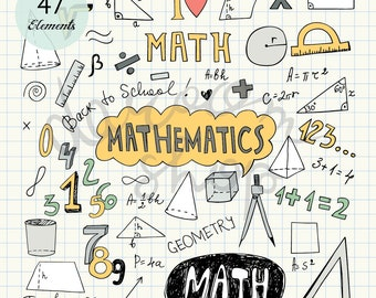 Mathematics clipart | Etsy