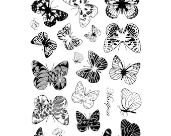 Crafty Individuals Beautiful Butterflies CI 231 Butterfly Stamp Rubber For Paper Crafting