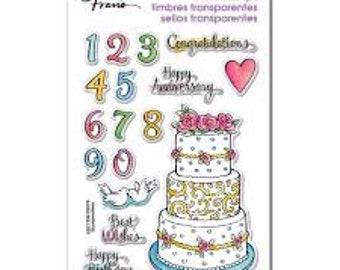Cake Stamp, Stampendous, Cake Tier, Rubber Stamp, Card Making, Cake, Food Stamp