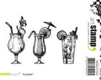 Carabelle Studio, Cocktails, Drinks, Summer Drinks, Stamp, Rubber Stamps, Paper Craft