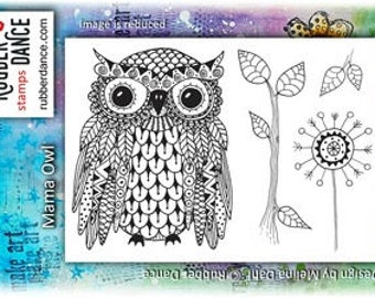 Owl Stamp, Mama Owl, Rubber Dance Stamp, Rubber Stamp, Bird Stamp