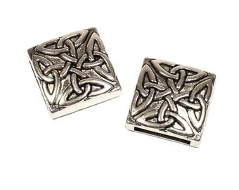 4 beads from Celtic knot antique silver, size: 18mm x 5.5 mm