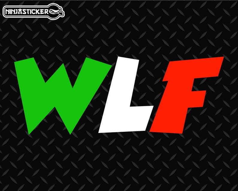Valentino Rossi WLF vinile adesivo  3615e09ec08