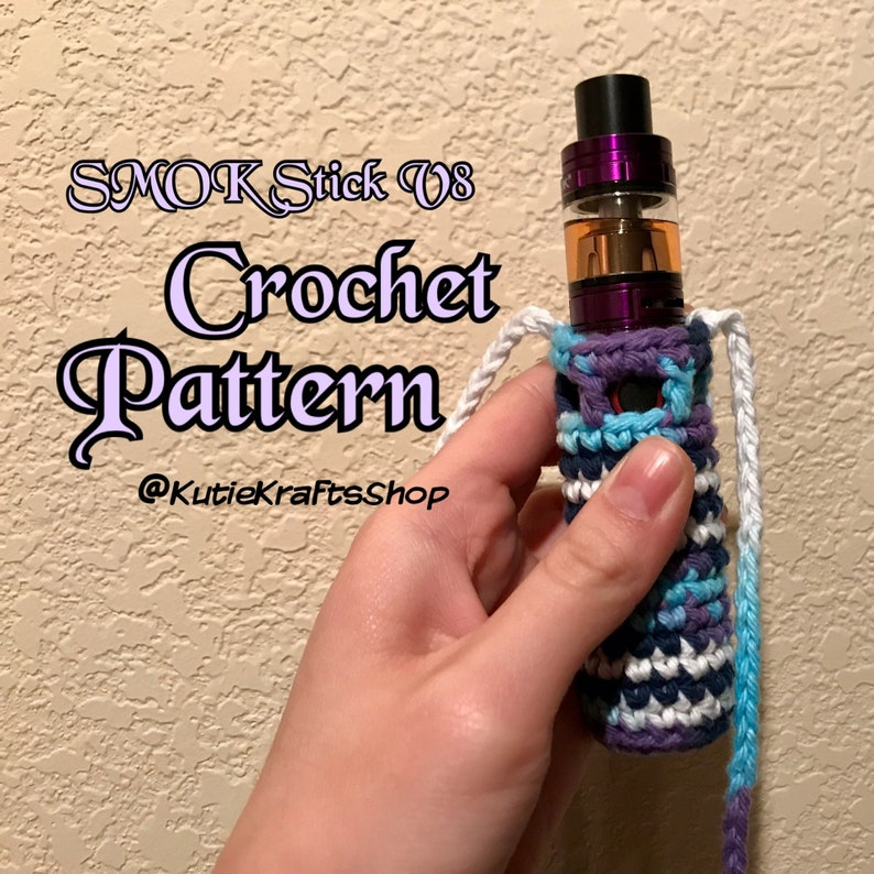 Vape SMOK Stick V8 Necklace Leash Holder CROCHET PATTERN