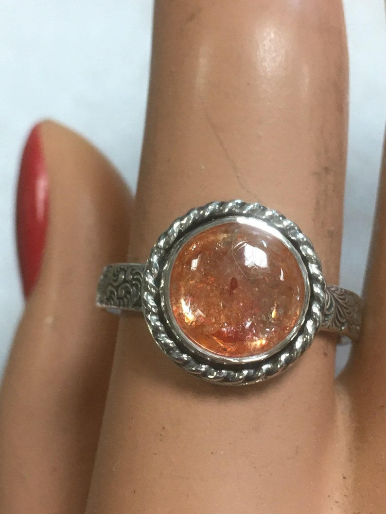 Sunstone and Silver Ring