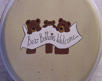 Teddy bear toilet seat PERSONALZIED FREE!!
