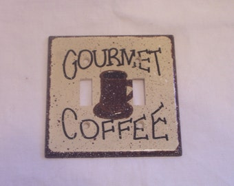 Gourmet coffee double light switch cover FREE SHIPPING