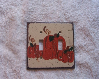 Pumpkin double light switch cover FREE SHIPPING