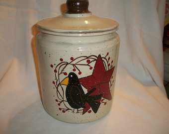 Primitive crow cookie jar PERSONALIZED FREE!!